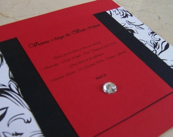 Red Exquisite Manhattan Invitation Set