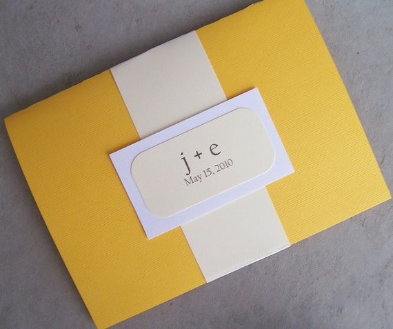 Divine Yellow Pocketfold Invitation Set