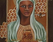 """Black Madonna from the """"Secret Life of Bees"""" 8x10 print from original oil painting"""