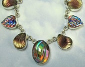 Sterling Silver Necklace Vintage Glass Necklace Art Deco Jewelry