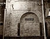 Platform 9 3/4. King's Cross Station. London England. - 8x10 fine art photography print