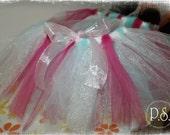 Tutu White, Pink, Teal 6-12 months