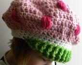CROCHET PATTERN - Strawberry Shortcake Inspired Hat