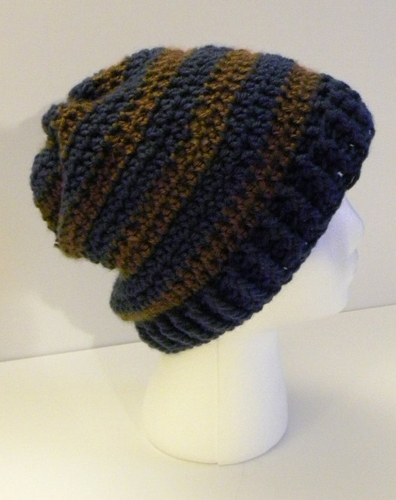 CROCHET PATTERN - Boyfriend Striped Hat