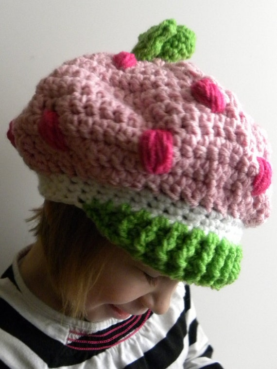 CROCHET PATTERN - Strawberry Shortcake Inspired Hat