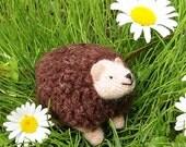Hedgie Hedgehog, a felted wool animal toy