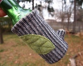 Beer Cozy tree branch striped