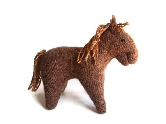 waldorf toy, all natural toy, waldorf horse, eco friendly toy, stuffed toy horse, stuffed toy