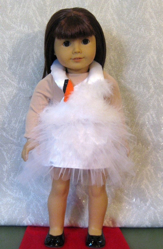Doll Clothes Red Carpet Swan Dress Fits American Girl Or