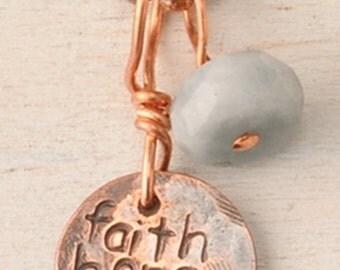 small copper necklace