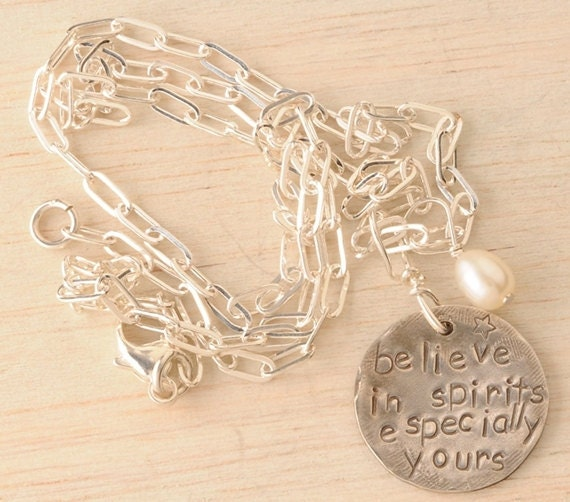 silver believe in spirits necklace