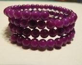 Purple memory bracelet