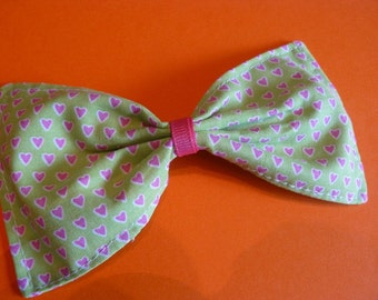 Large Pink Heart Bow