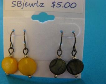 Yellow and black pairs