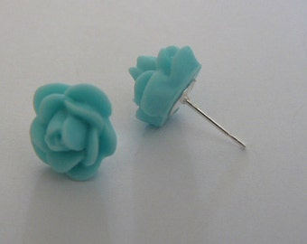13mm aqua rose  posts