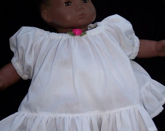 American Girl or Bitty Baby Short babydoll gown for 18in doll or 15in Doll