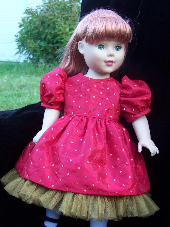American Girl TAFFETA and TULLE  dress