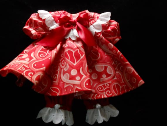 Valentines Day Hearts  Outfit  for Bitty Baby