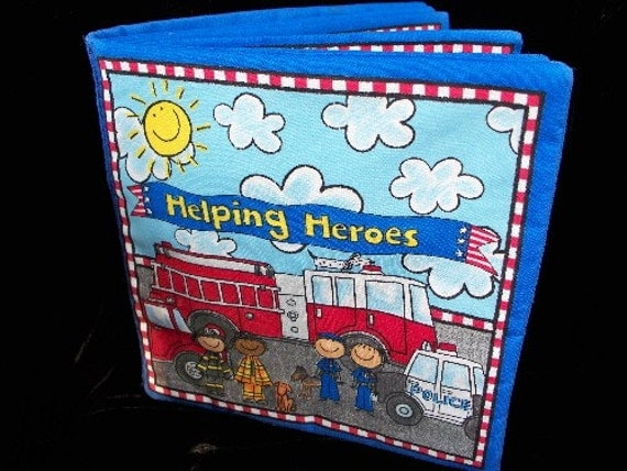 Helping Heros Cotton Childrens Baby Book