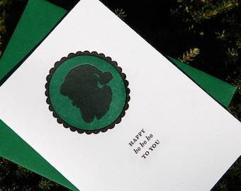 CLEARANCE: Happy Ho Ho Ho, Letterpress Holiday cards - set of 6