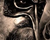 Long Nosed Venetian Handmade Leather Mask