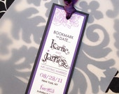 PURPLElicious Peony Wedding Save the Date Bookmark... SAMPLE