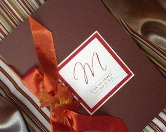 Leaf It Up To Me Autumn Leaf Booklet Wedding Ceremony Program