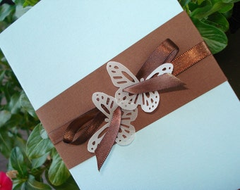 BUTTERFLY BLISS Wedding Invitation... SAMPLE