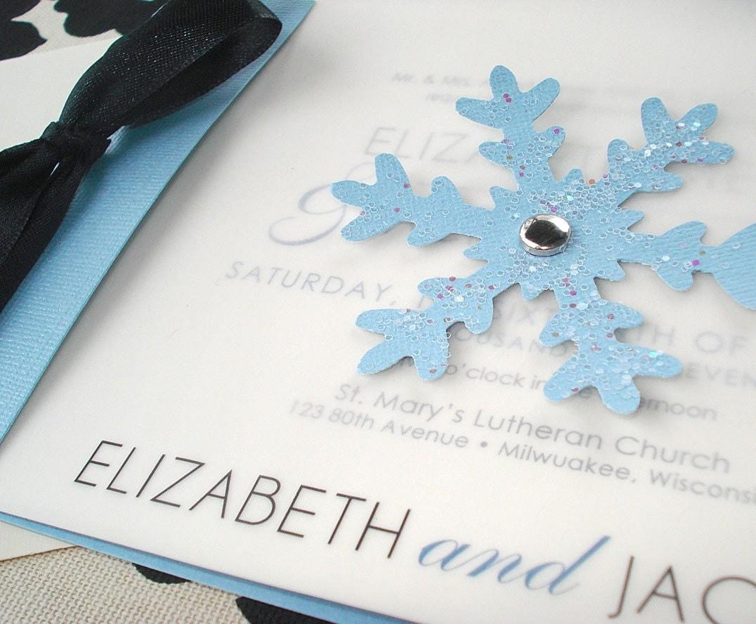 WINTER WONDERLAND Snowflake Wedding Invitation Or By Envymarketing