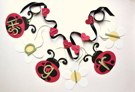 Ladybug baby shower decorations red and black it's a girl banner by ParkersPrints on Etsy