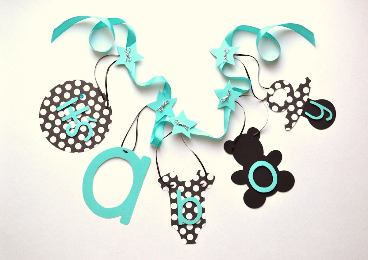 turquoise and brown baby shower decorations it 39 s by parkersprints