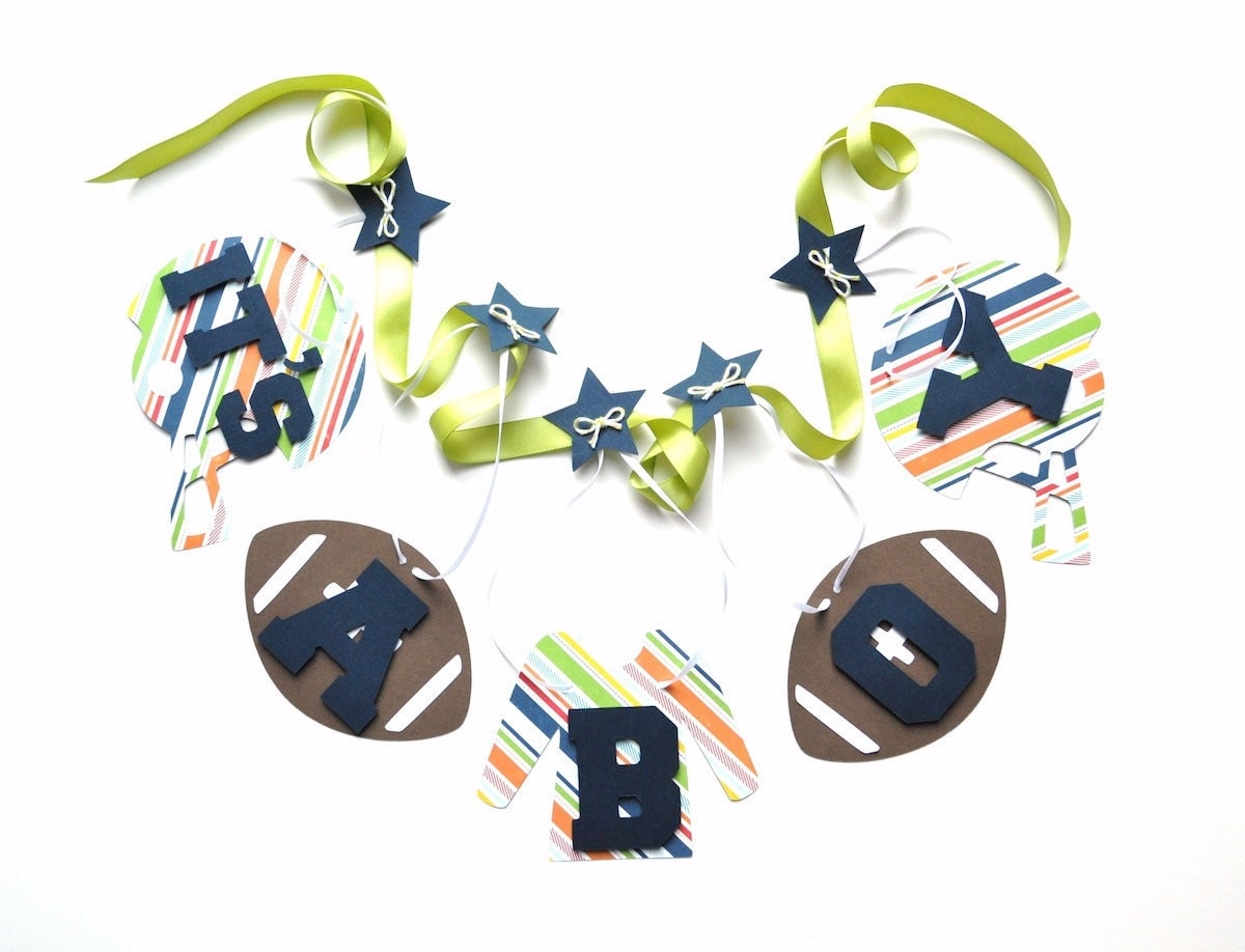 football baby shower decorations blue and green it 39 s a boy