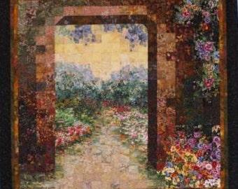 Secret Garden Original Art Quilt by Lenore Crawford