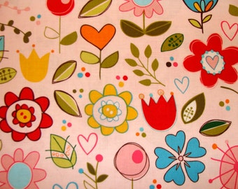 Riley Blake Designs - Sunny Happy Skies by Bella Blvd  C2730 - Pink Cutesy Floral Cotton Woven Fabric, price per yard - The Fabric Zoo
