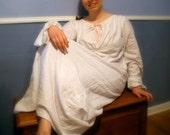 Custom Regency Flannel Nightgown