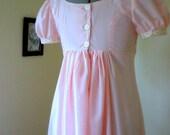RESERVED custom pink regency gown