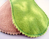 Little Peanut Panty Liners - Lime Green Clouds - Set of 2