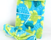 Baby Set - Burp Cloth and Owie Fixer - Sea Turtle Swim - SPRING CLEANING SALE