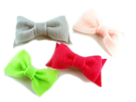 Raspberry Limeade Hair Bow Collection - Set of 4 clips