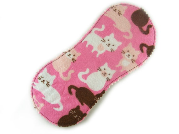 Little Peanut Panty Liner in Kitty Cat Meow - Reusable Cloth Liner