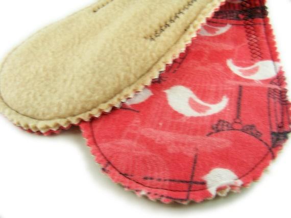 HALF OFF SALE Medium Absorb Long Peanut Pad in Bird Cage - Reusable Cloth Pad