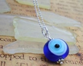 Evil Eye Glass Necklace