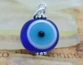 Evil Eye Glass pendant-dangle