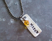 Name/Crystal Pendant Add- On for Mommy Necklace