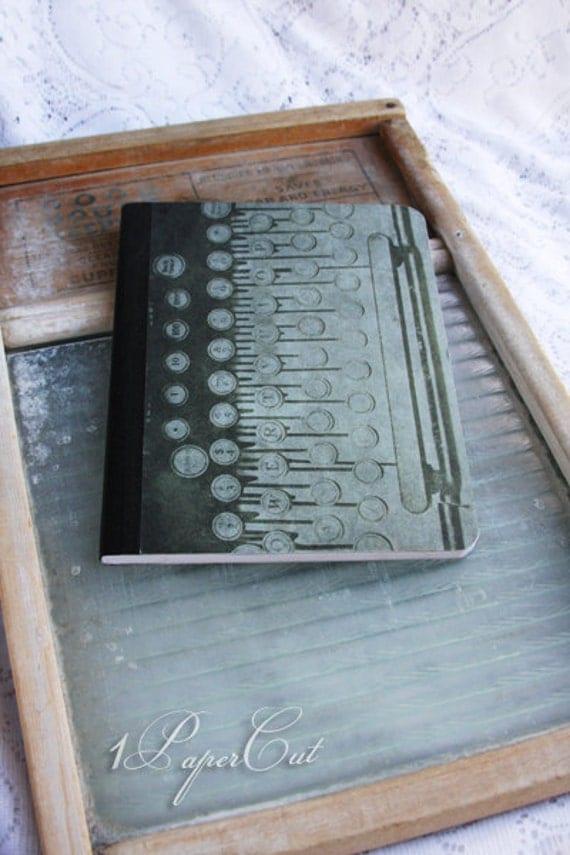 Typewriter & Gears: Composition Notebook Vintage Steampunk