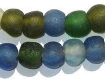 Recycled Glass Beads from Ghana - Medley of African Beads (RYC-RND-MIX-505)
