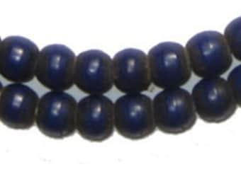 "Padre African Trade Beads - Blue Antique Ethiopian 25"" Strand (PADR-RND-BLU-208)"