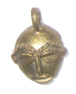 "African ""Mask"" Brass Pendant from Ghana"