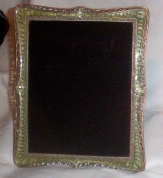 Hand Crafted Scrying Mirror Psychic Wicca Divination Vintage Frame With Rhinestones