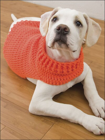 Hand Crochet Hunters Dog Sweater Brit Orange By Moontwinkles